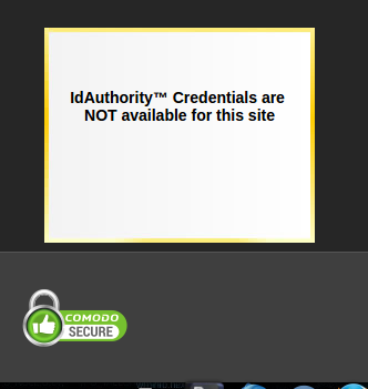idAuthority Credentials are NOT available for this site