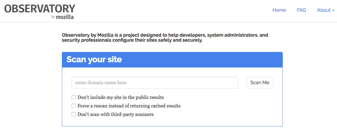 Mozilla Observatory